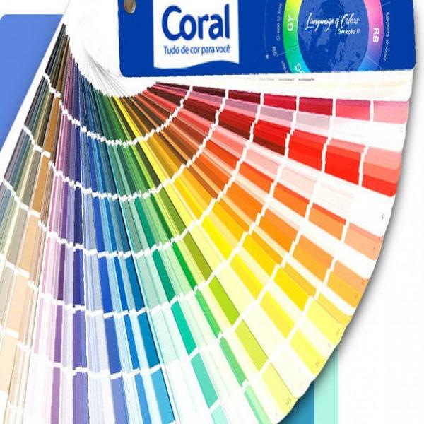 Cores do catálogo Coral