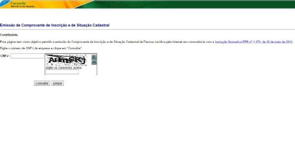 Siga os passos e solicite seu cartão CNPJ (Foto: Reprodução)