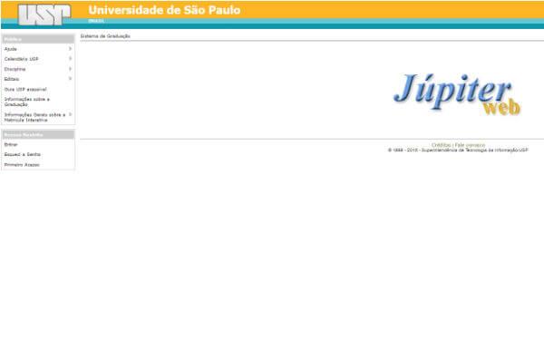 Faça seu cadastro na JupiterWeb e aproveite as informações