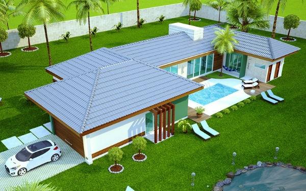 Plantas de casas prontas gr tis mundodastribos todas for Modelos de casas de una planta para construir