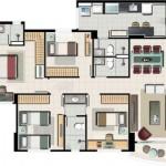 Planta de Casas com 4 Quartos (6)