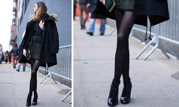 Os looks de inverno são mais charmosos com meia calça (Foto: Divulgação MdeMulher)