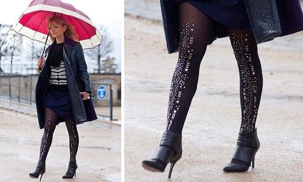 Meia calça com textura (Foto: Divulgação MdeMulher)