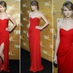 Vestido longo vermelho. (Foto: Divulgação)