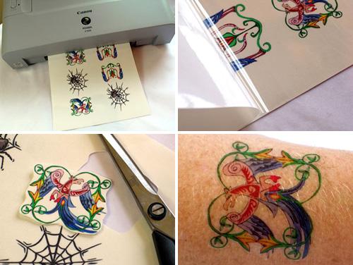 Tatuagen adesiva, fácil de fazer e indolor