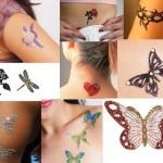 Diversos modelos de tatuagens adesivas femininas
