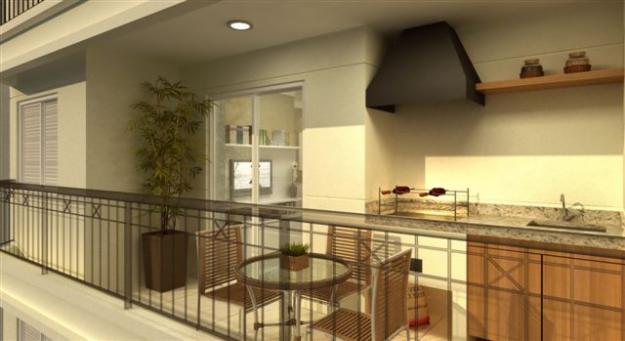 Móveis próprios para varanda com churrasqueira sem poluir o ambiente