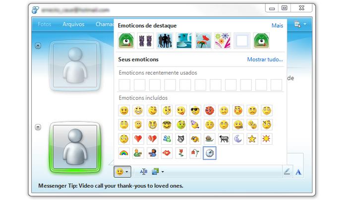Skype com o MSN Foto: Oficial MSN)
