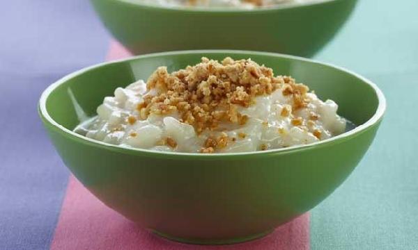 Arroz Doce com chocolate branco delicioso e fácil de fazer (Foto: Divulgação)