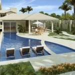 paisagismo em piscina