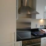 Um espaço pequeno para o fogão embutido