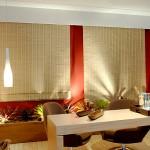 Cortina Romana em bambu, combinação perfeita para o ambiente