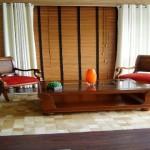 A cortina de bambu pode ser usada em ambientes mais sofisticados