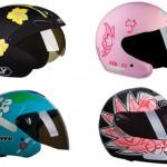 Existem variedades de capacetes para todos os gostos.