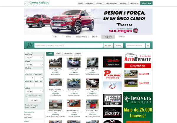 Carros na Serra - Site de Compra de Carros