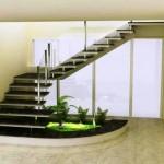 A escada pre moldada deixa o ambiente clin