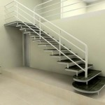 Em ambiente espaçoso ou pequeno a escada pré moldada é a solução