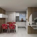 O designe da cozinha com os eletrodomésticos embutidos fica surpreendente