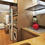 Os eletrodomésticos embutidos vêm em varias cores para combinar com os mais variados ambientes