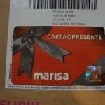 Cartão Presente Marisa