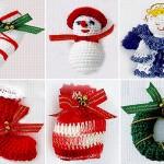 Quem sabe fazer crochê pode confeccionar estes enfeites de Natal. (Foto: Divulgação)