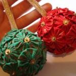 Fuxico para confeccionar bolinhas de Natal. (Foto: Divulgação)