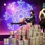 Decoração de loja feminina de Natal. (Foto: Divulgação)