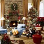 O clima de natal prevalece na sala de estar. (Foto: Divulgação)