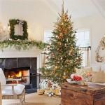 A árvore de natal é a estrela da decoração da sala. (Foto: Divulgação)