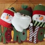Enfeite diferente de natal para porta. (Foto: Divulgação)