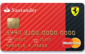 Cartão Ferrari Santander