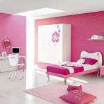 A cor rosa é clássica na decoração de quartos femininos. (Foto: Divulgação)
