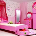 Praticamente todas as meninas gostam da cor rosa para a decoração de seus quartos. (Foto: Divulgação)