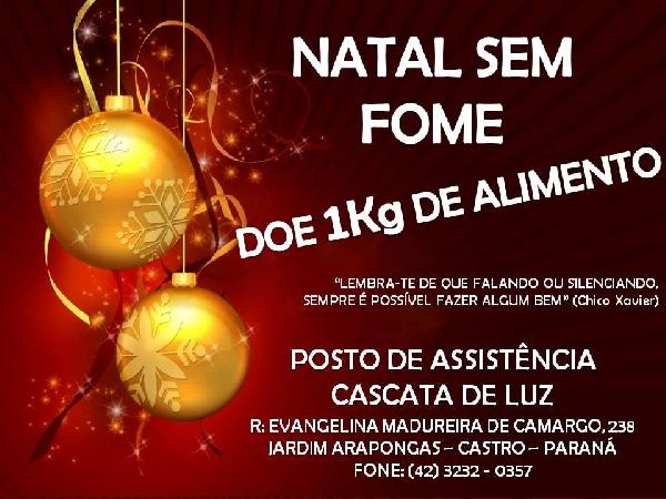 Doe alimentos e faça mais um Natal sem fome no Brasil (Foto: Divulgação)