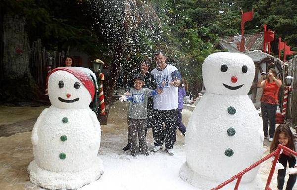 Com a neve tudo fica mais divertido (Foto: Divulgação)