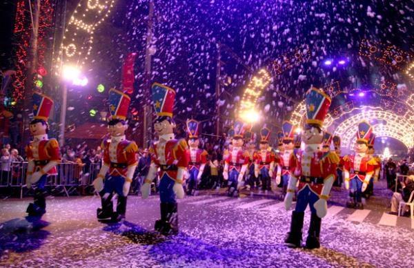 Neve artificial em eventos no RS (Foto: Divulgação)