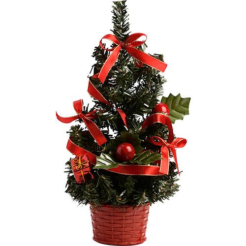 A árvore já vem completa com todos os enfeites natalinos.  (Foto: Divulgação)