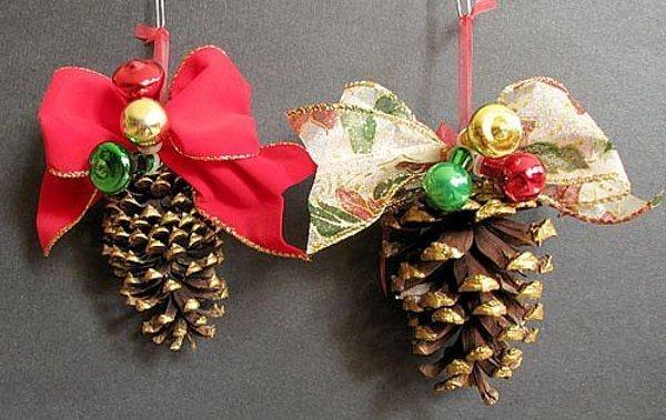 Enfeites com pinhas baratos e charmosos (Foto: Divulgação)