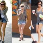 Shorts jeans desfiado, rasgado ou com bainha