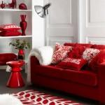Decoração de Sala com Sofá Vermelho 10