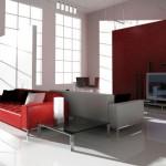 Decoração de Sala com Sofá Vermelho 11