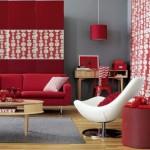 Decoração de Sala com Sofá Vermelho 12