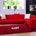 Decoração de Sala com Sofá Vermelho 13