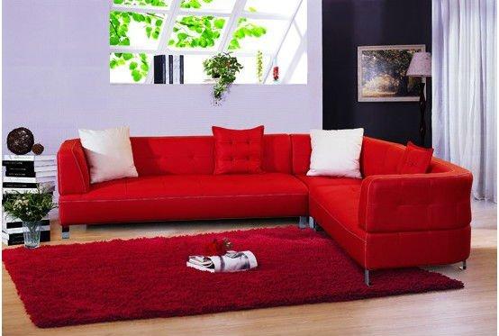 Sala De Tv Com Sofa Vermelho ~ Decoração de Sala com Sofá Vermelho 13