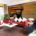 Decoração de Sala com Sofá Vermelho 14
