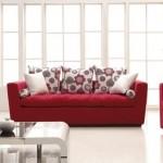 Decoração de Sala com Sofá Vermelho 8