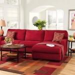 Decoração de Sala com Sofá Vermelho-1