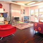 Decoração de Sala com Sofá Vermelho-2