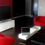 Decoração de Sala com Sofá Vermelho-3