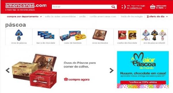 Acessando a loja virtual Americanas você confere todos os produtos para essa Páscoa e muito mais(Foto: Americanas)